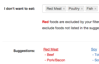 Vegetarians can filter meat products